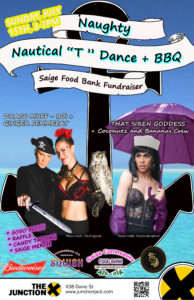 "Naught Nautical ""T"" Dance + BBQ Poster"